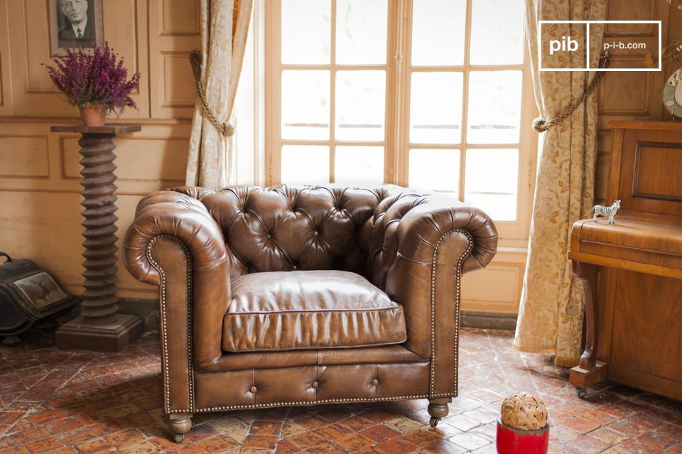 Leren Fauteuil Chesterfield.Chesterfield Saint Paul Fauteuil