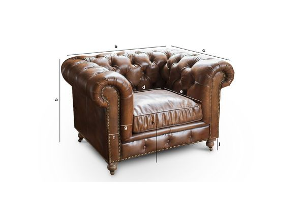Productafmetingen Chesterfield Saint Paul fauteuil