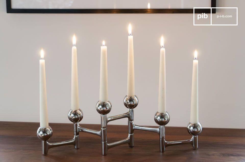 Een stijlvol en veelzijdige accessoire voor zes kaarsen