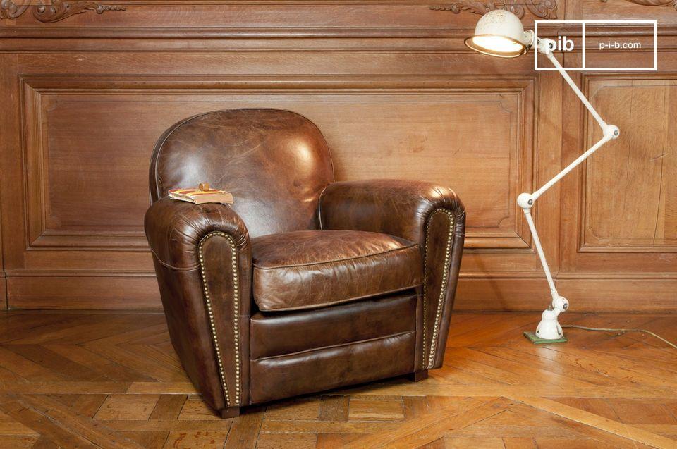 Cigar club leren fauteuil zeer comfortabele fauteuil pib