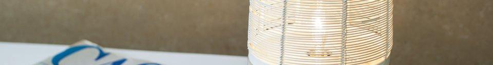 Benadrukte materialen Cistella tafellamp