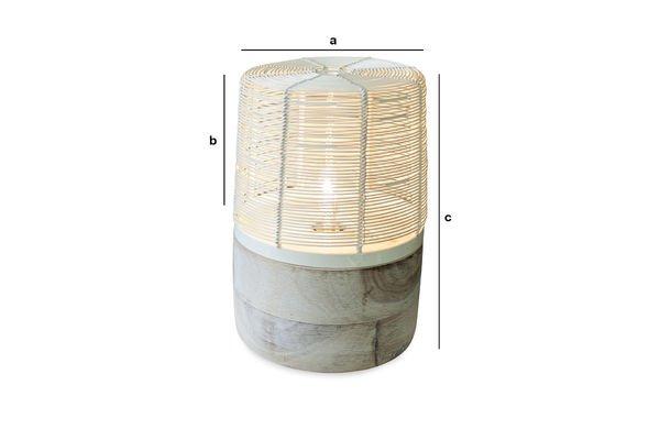 Productafmetingen Cistella tafellamp