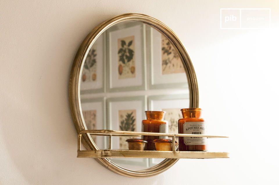 Clémentine spiegel met plankje