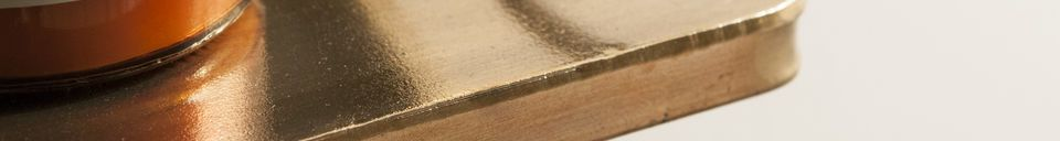 Benadrukte materialen Clémentine spiegel met plankje