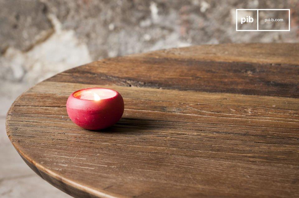 Rond houten tafelblad met fijne afwerking