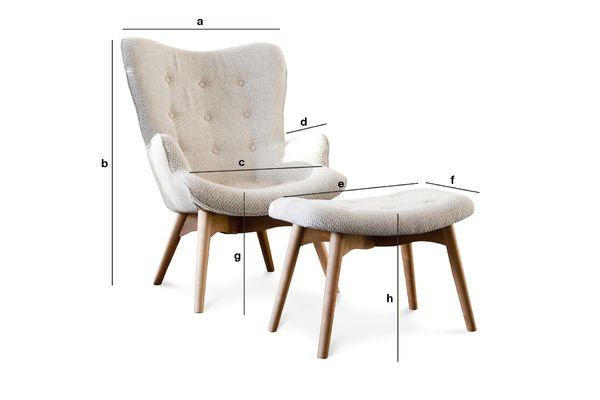 Productafmetingen Colombine fauteuil