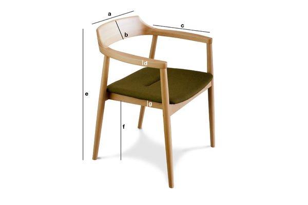 Productafmetingen Copenhagen fauteuil