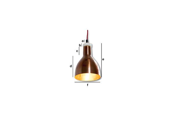 Productafmetingen Copper designlamp