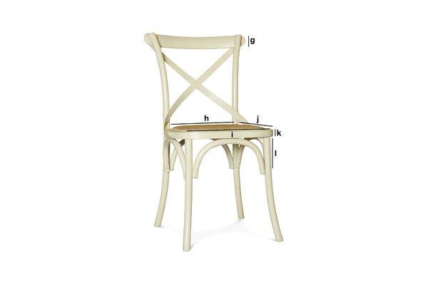 Productafmetingen Crèmekleurige Pampelune stoel