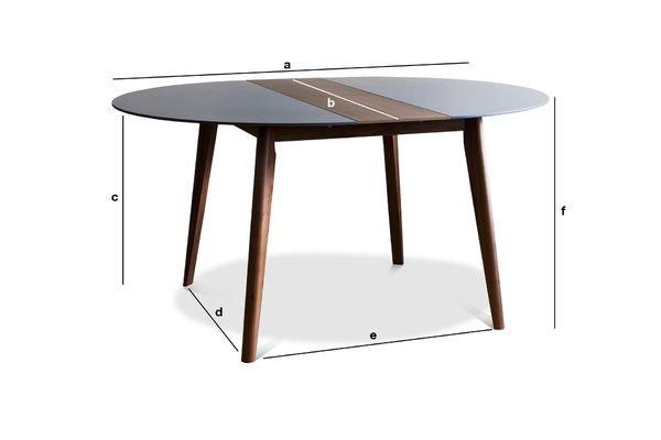 Productafmetingen Cristina uitschuifbare tafel