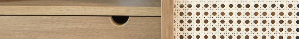 Benadrukte materialen Dammea eikenhouten dressoir