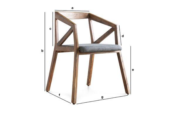 Productafmetingen Danish 54 stoel