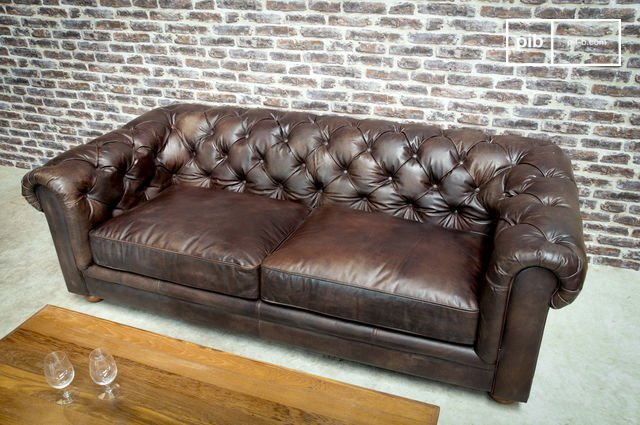 Dark Chesterfield sofa