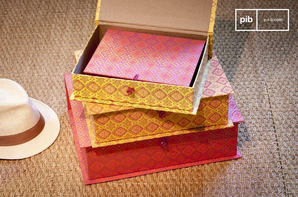 De dozen van Dr Vincent bestaat uit vier individuele stukken en hebben verschillende kleuren en