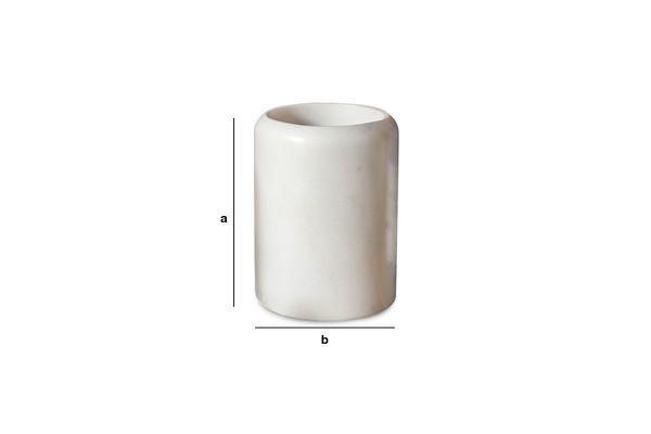 Productafmetingen De wit marmeren houder Wäg