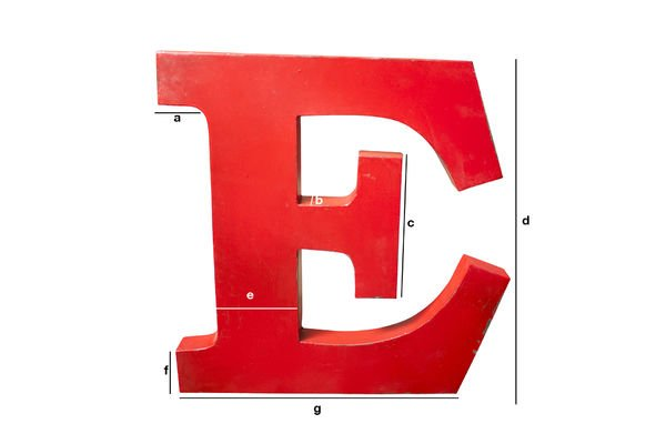 Productafmetingen Decoratieve letter E