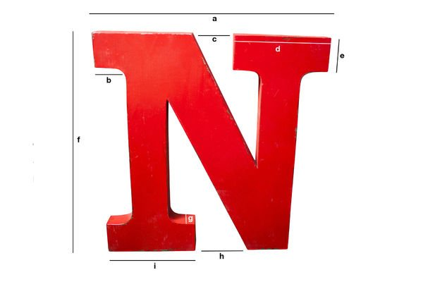 Productafmetingen Decoratieve letter N