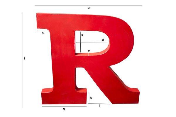 Productafmetingen Decoratieve letter R