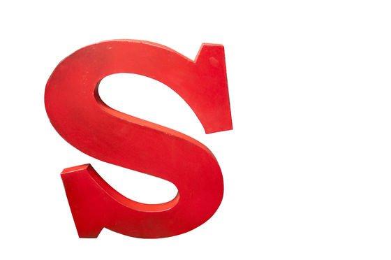 Decoratieve letter S Productfoto