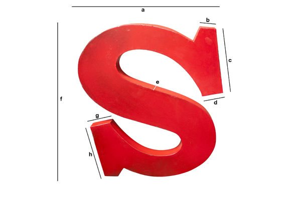 Productafmetingen Decoratieve letter S