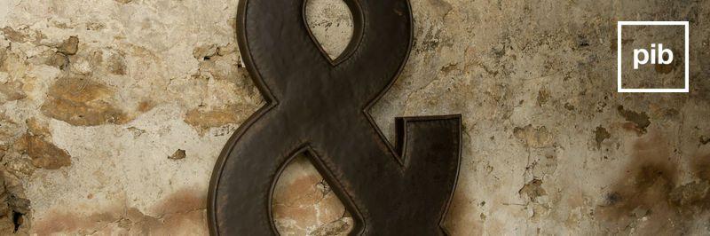 Decoratieve letters snel weer terug in de collective