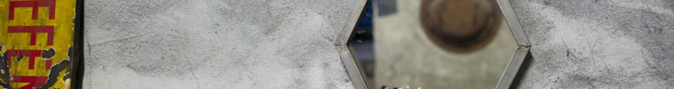 Benadrukte materialen Diagone spiegel