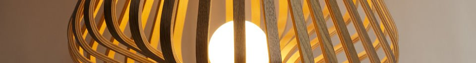 Benadrukte materialen Diva woonkamer lamp