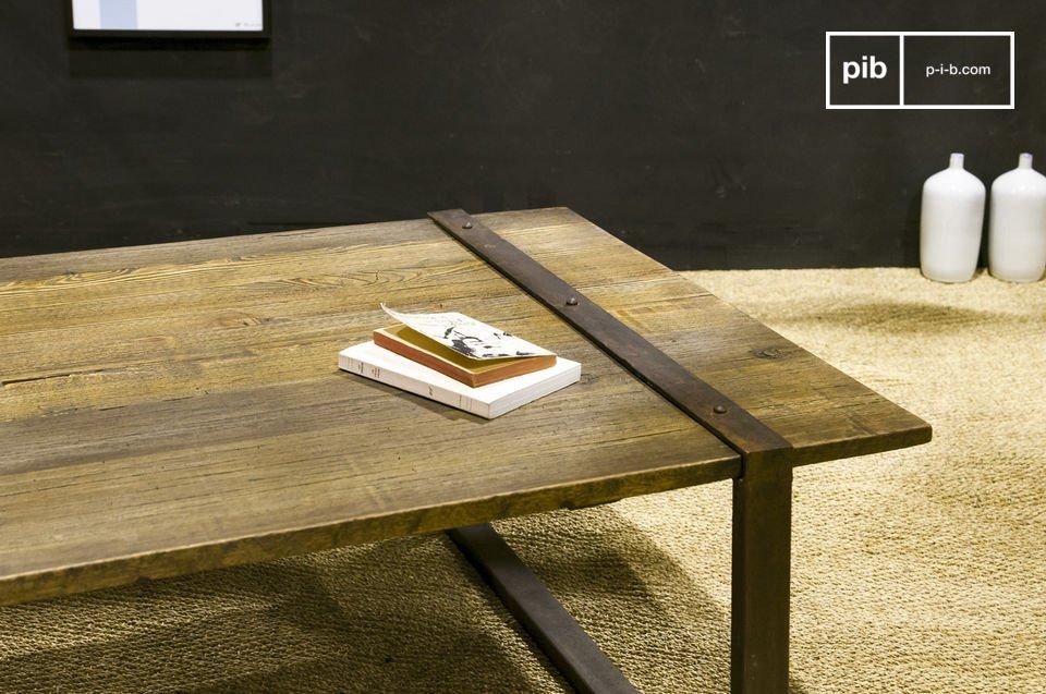 Teruggewonnen massief houten iep blad , een 100% industriële look?