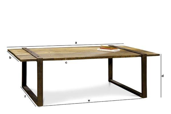 Productafmetingen Domancy salontafel
