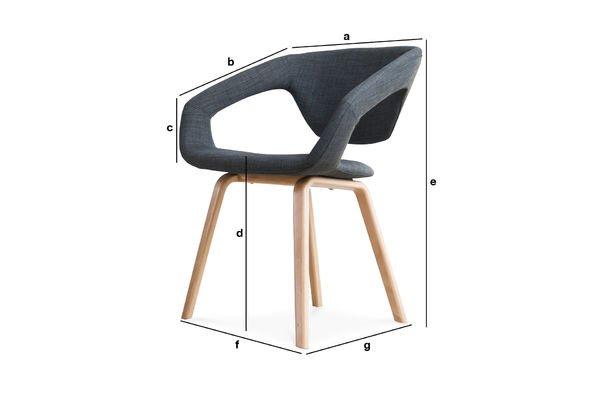Productafmetingen Donker Tobago fauteuil