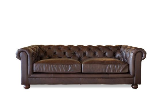 Donkere Chesterfield bank Productfoto