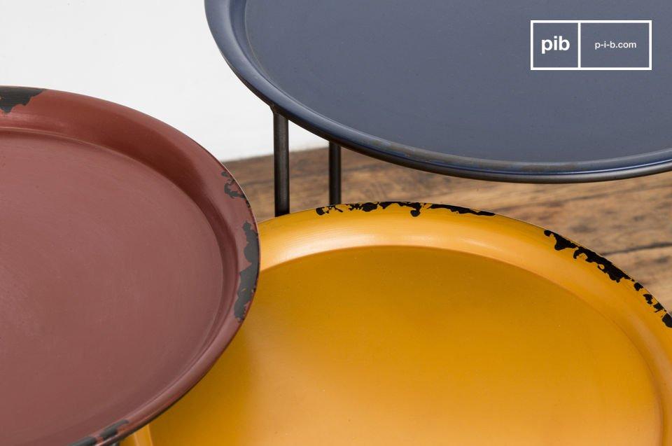 100% metaal met een kleurrijk design