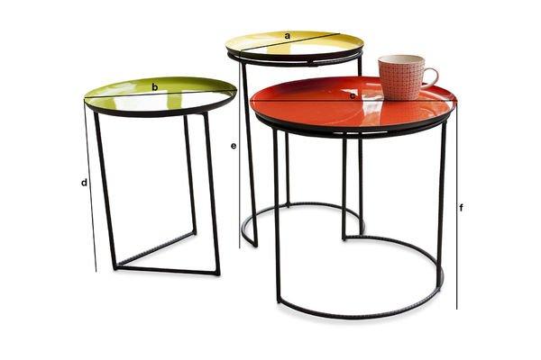 Productafmetingen Driekleurige Kirk salonatafel