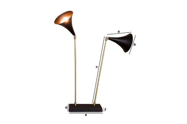 Productafmetingen Dubbele Bläck lamp