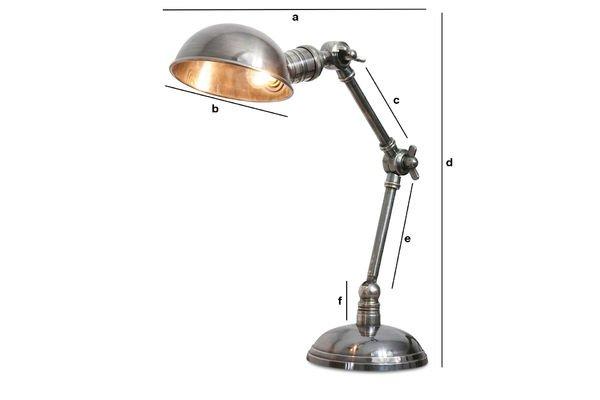 Productafmetingen Dubbele verzilverde lamp
