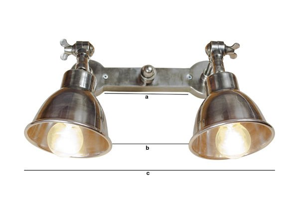 Productafmetingen Dubbele verzilverde wandlamp
