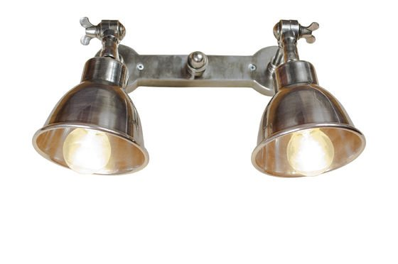 Dubbele verzilverde wandlamp Productfoto