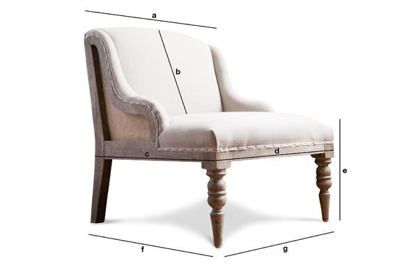 Productafmetingen Dumas fauteuil