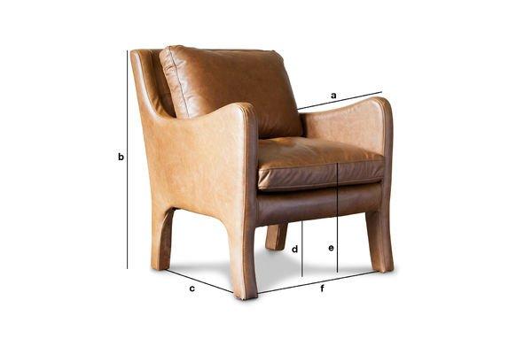 Productafmetingen Edinburgh lederen fauteuil