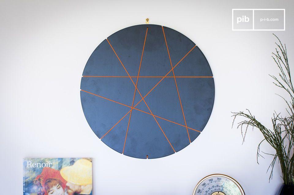 Deze ronde fotolijst met innovatief ontwerp zal u toelaten om uw kamer of uw appartement te