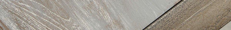 Benadrukte materialen Eettafel van gerecycled teakhout