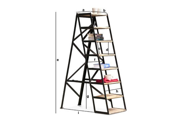 Productafmetingen Eight-step studio ladder