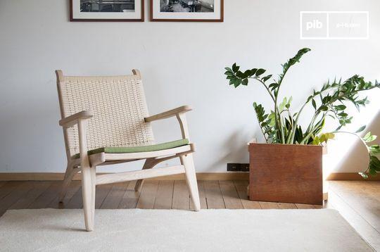 Eikenhouten fauteuil Satow