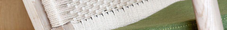 Benadrukte materialen Eikenhouten fauteuil Satow