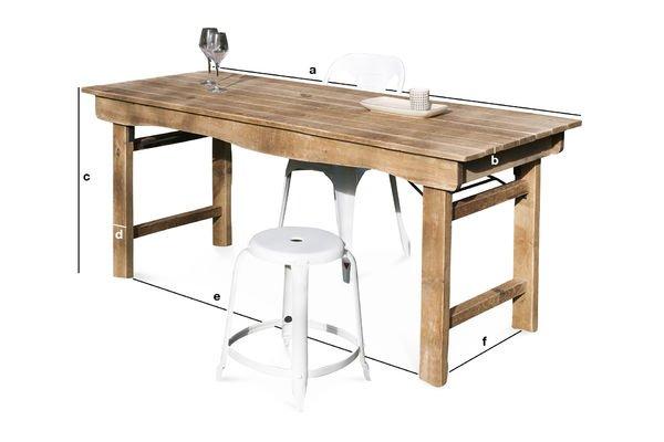 Productafmetingen Elise houten tafel