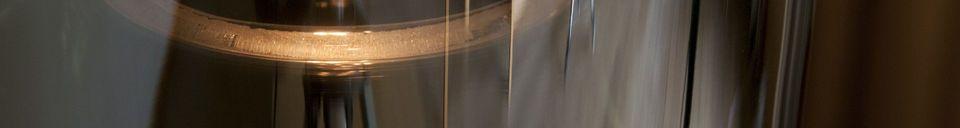 Benadrukte materialen Elixir glazen hanglamp