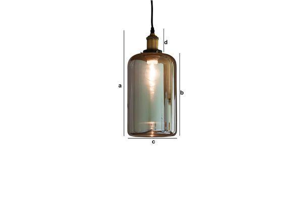 Productafmetingen Elixir glazen hanglamp