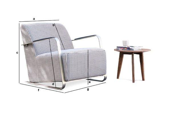 Productafmetingen Elthon fauteuil
