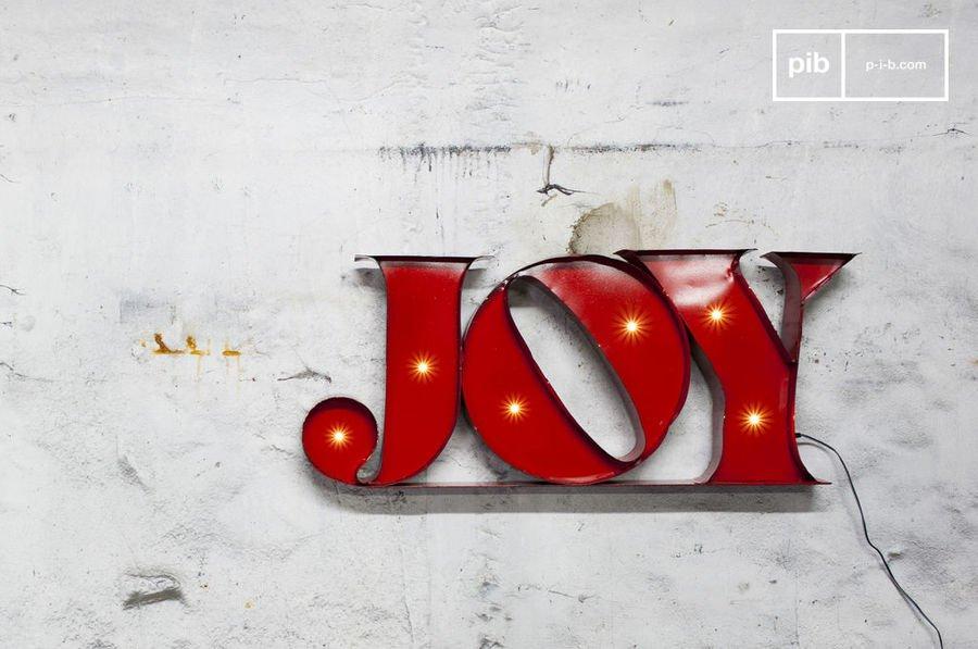 fEnseigne lumineuse Joy