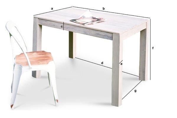 Productafmetingen Epicure houten tafel